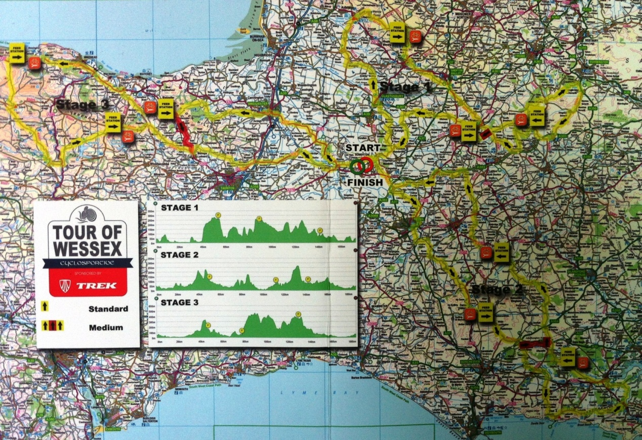 Route Map. Tour of Wessex 2014